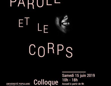Colloque UFORCA 2019 : La parole et le corps